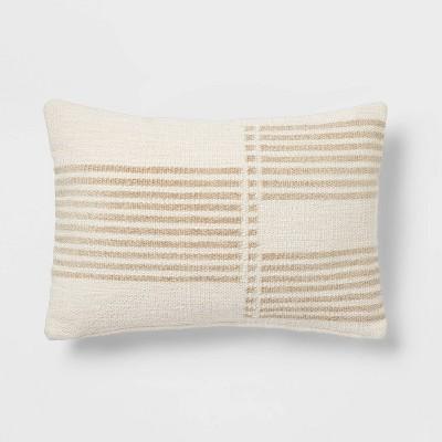 Oblong Modern Stripe Decorative Throw Pillow - Threshold™