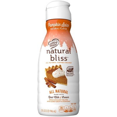 Coffee Mate Natural Bliss Pumpkin Spice Coffee Creamer - 1qt