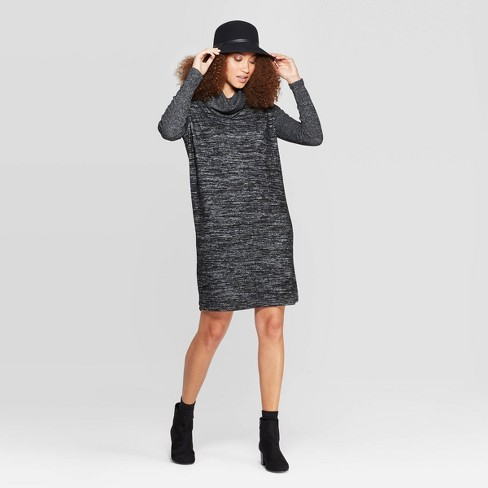 Women's Easy Fit Long Sleeve Sleeve Cowl Neck Knit Dress - A New Day™ - image 1 of 3