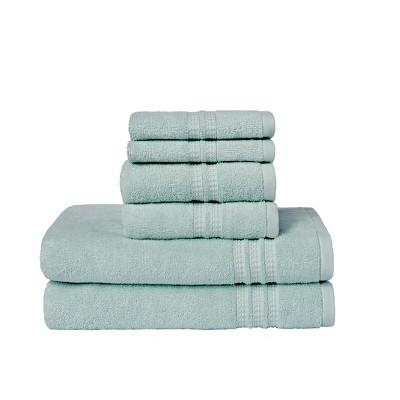 6pc Modern Home Trends Bath Towel Set Light Green - Loft
