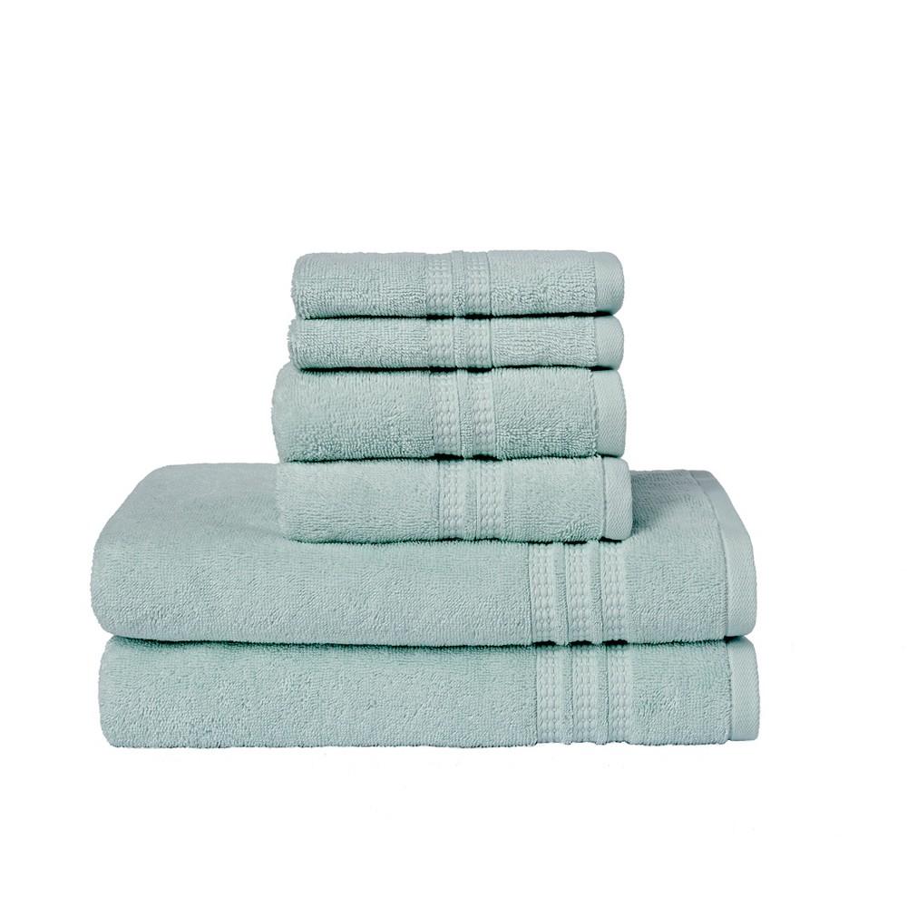 Image of 6pc Modern Home Trends Bath Towel Set Light Green - Loft