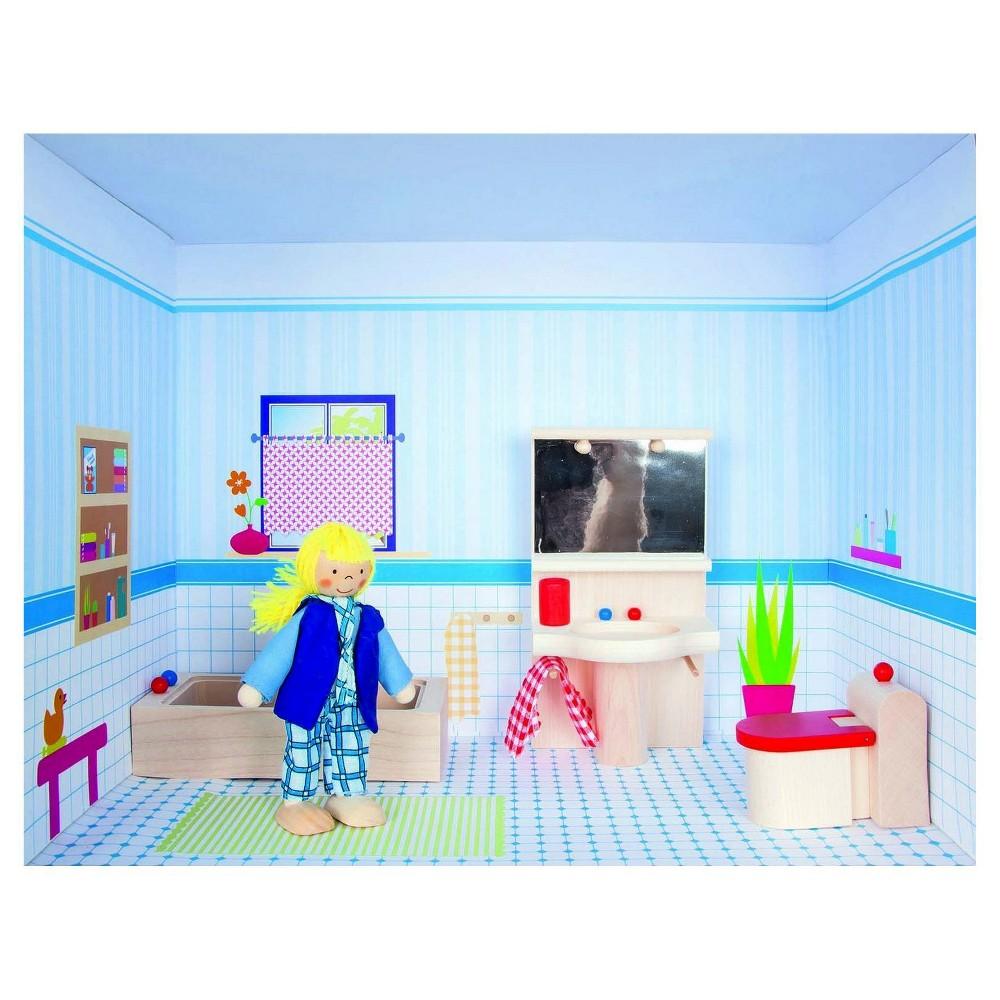 Rulke Puppenhaus Im Regal Doll House Modular Play Set - Bathroom