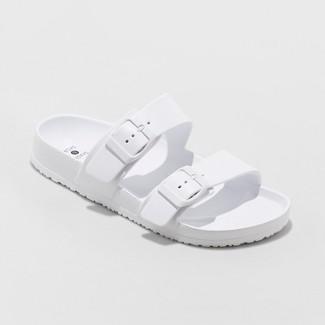 Women's Neida Eva Two Band Slide Sandals - Shade & Shore™ White 8