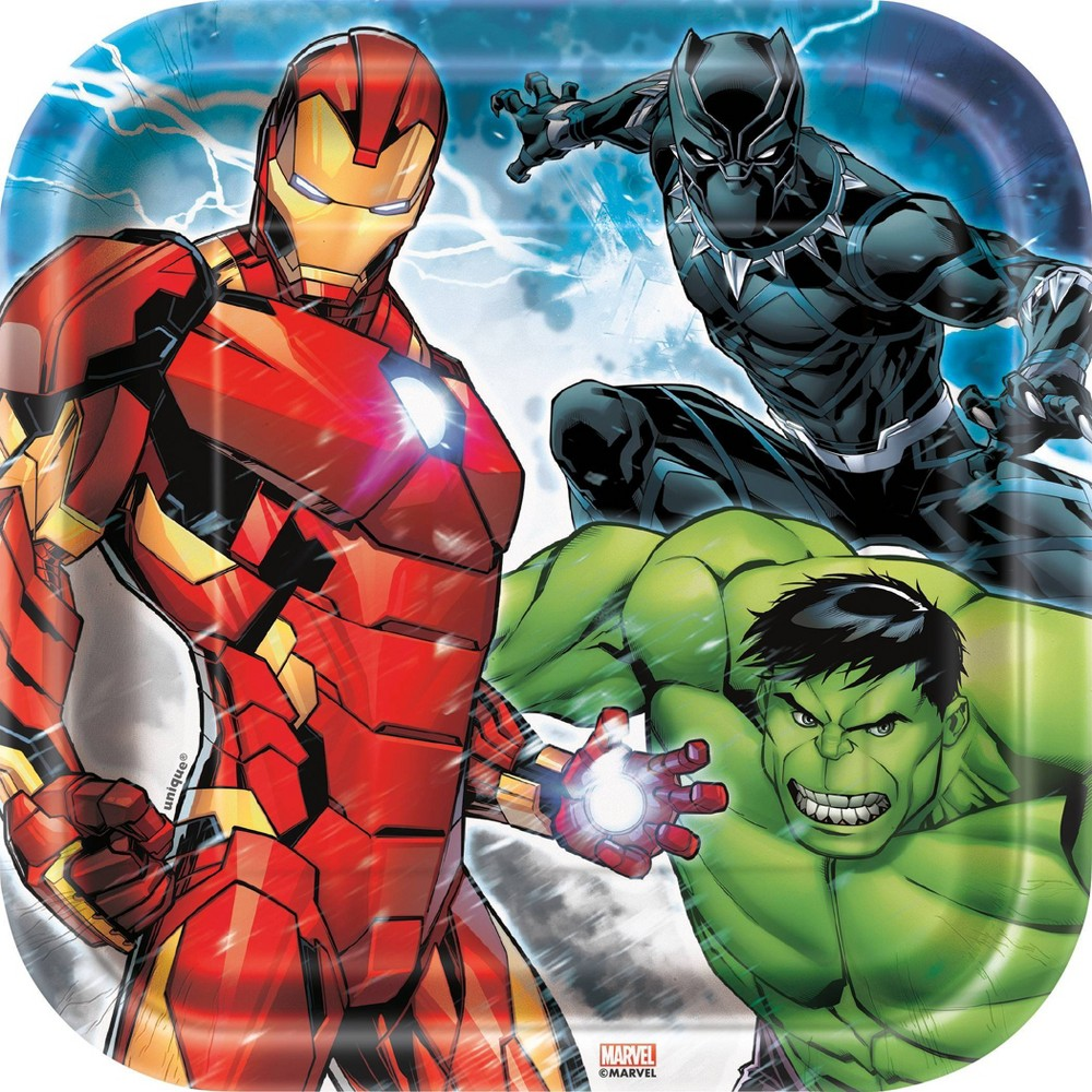 """Image of """"Avengers 7"""""""" Paper Plates - 8ct"""""""