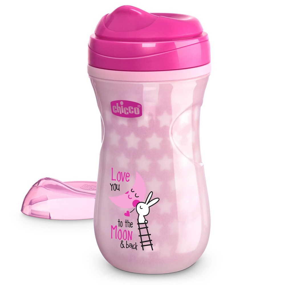 Image of Chicco Glow in The Dark Sippy Cup 12M+ - Pink 9oz