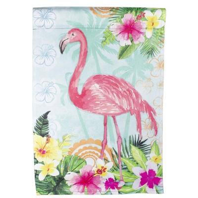 """Northlight Tropical Flamingo Spring Outdoor Garden Flag 12.5"""" x 18"""""""