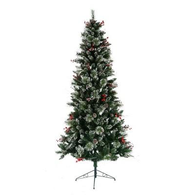 Vickerman Snow Tipped Pine Artificial Christmas Tree