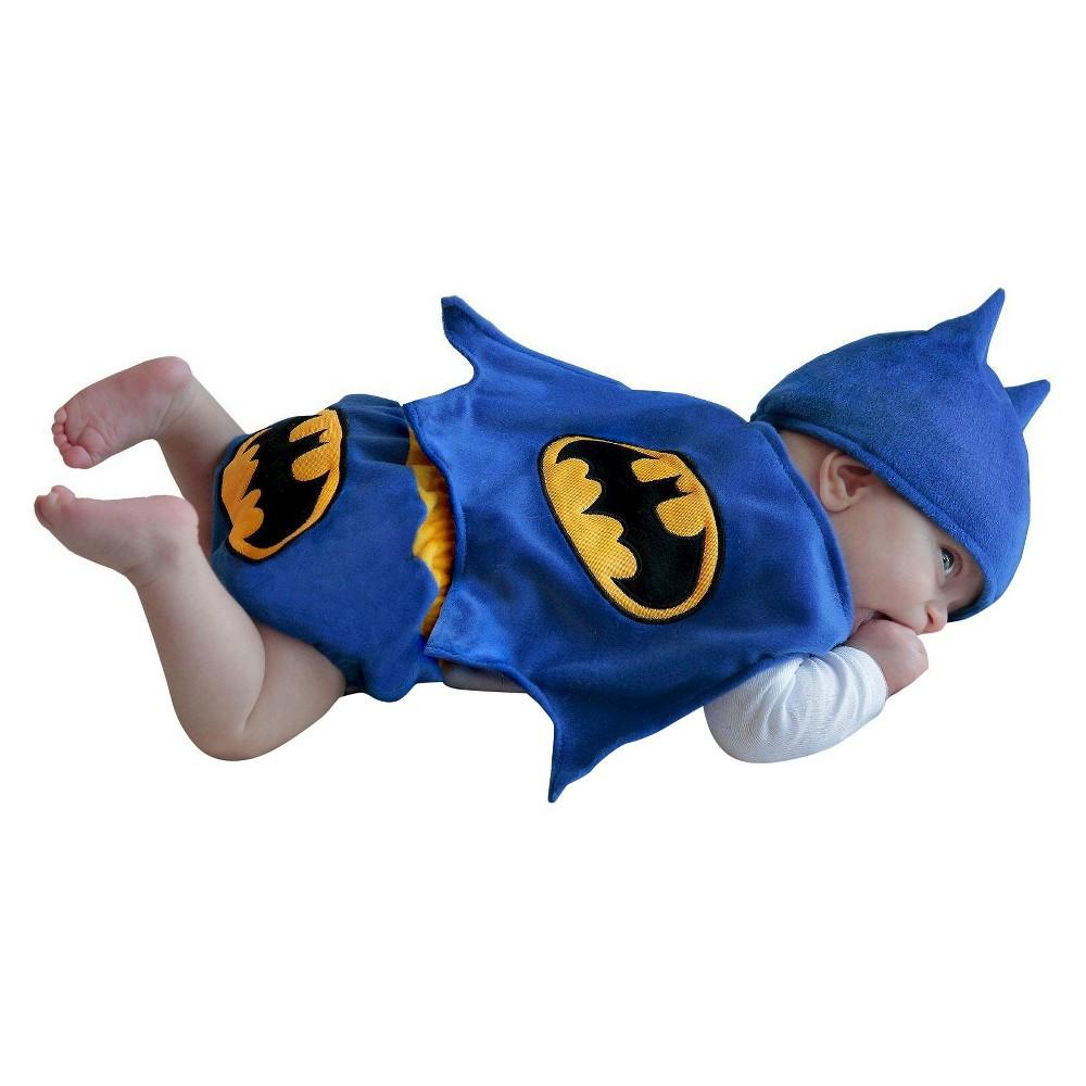 Image of Halloween Batman Baby DC Comics Diaper Cover Costume Set - 0-3 Months, Men's, Blue