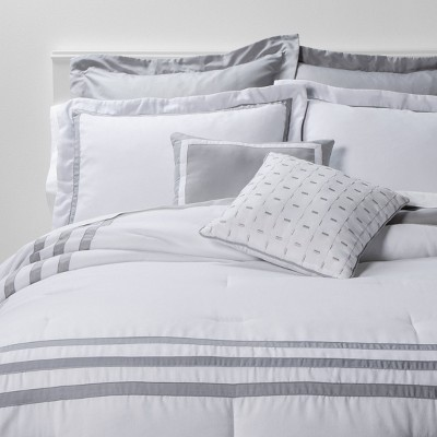 King 8pc Sanford Comforter Set White/Gray - Threshold™