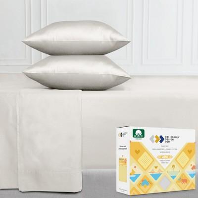 400 Thread Count Cotton Sheets - Cooling Sateen Weave Sheet Set, Deep Pocket Ultra Soft Bedding - California Design Den