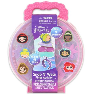 Disney Princess Snap N' Wear Rings Activity Kit