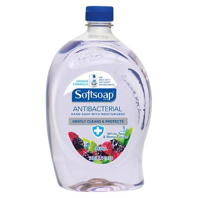 Softsoap Antibacterial Hand Soap Refill White Tea and Berry Fusion - 56 fl oz