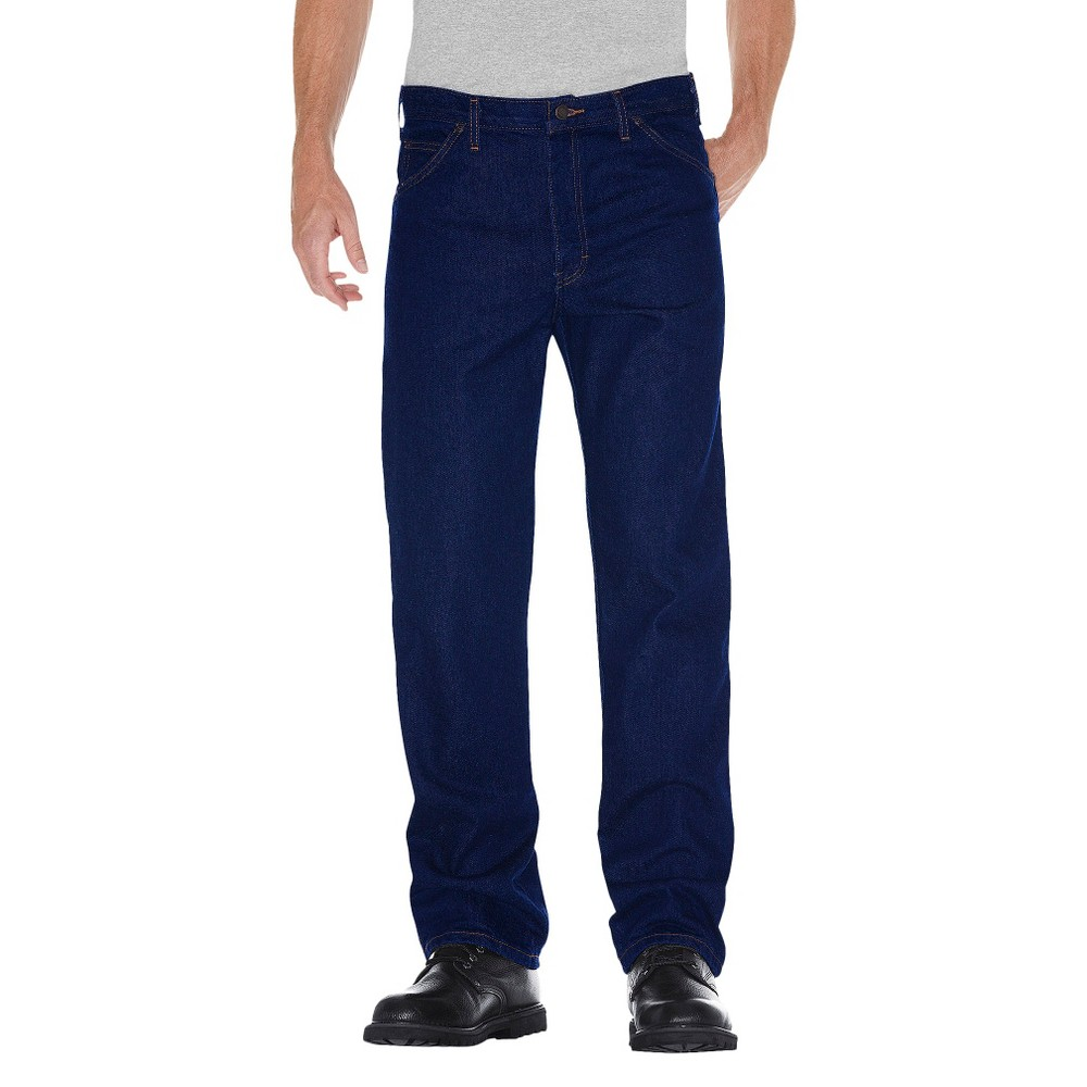Dickies Men's Regular Straight Fit Denim 5-Pocket Jeans - Indigo Blue Washed 30X30