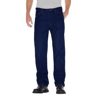 Dickies® Mens Regular Straight Fit Denim 5-Pocket Jeans - Indigo Blue Washed 42X30