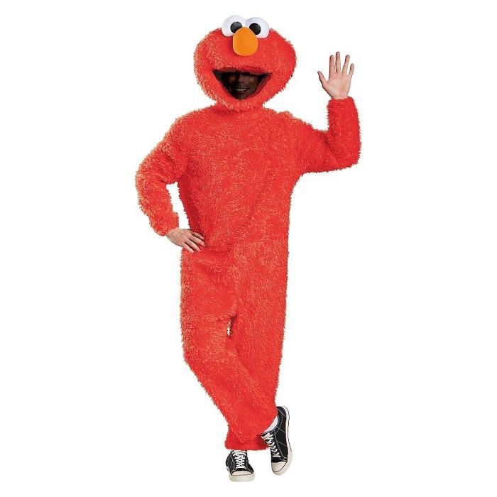 Sesame Street Adults Elmo Plush Costume X-Large - image 1 of 1