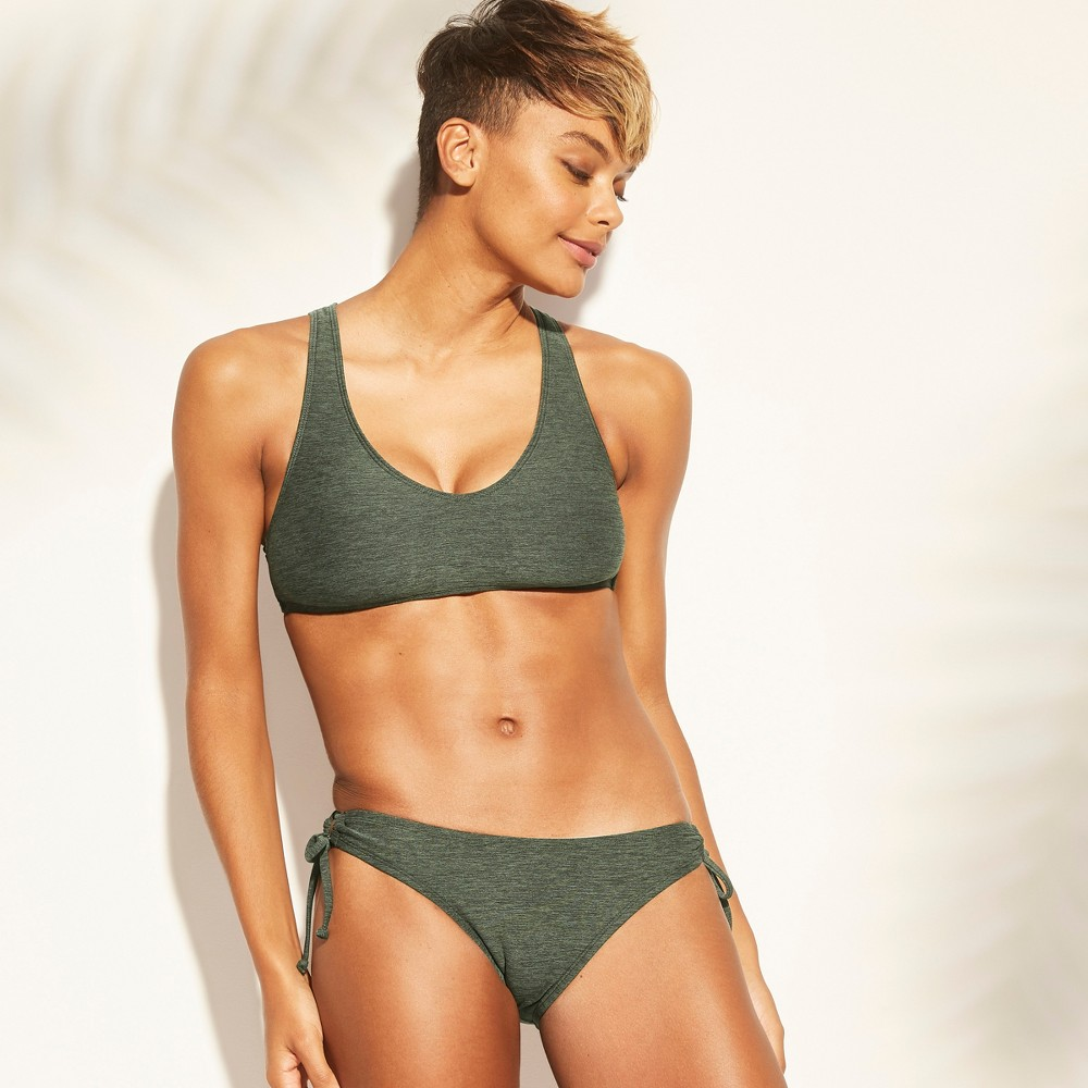 Women's Keyhole Tie Back Bikini Top - Kona Sol Dark Green L