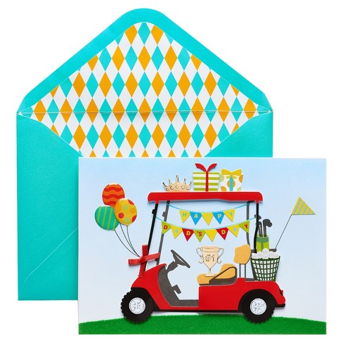 Papyrus Golf Cart Father's Day Card with Foil - image 1 of 1