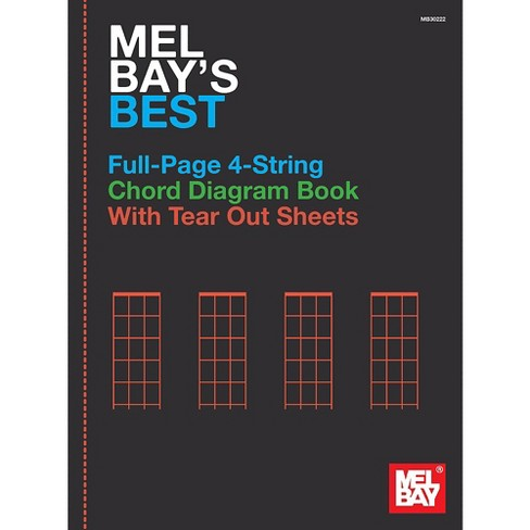 Mel Bay Mel Bay's Best Full-Page 4-String Chord Diagram Book - image 1 of 1