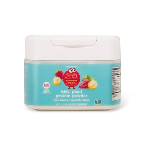 Kids' Plant Protein Powder - Strawberry Banana - 12oz - Simply Balanced™ - image 1 of 1