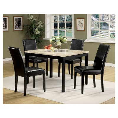 acme furniture dining table set white black target rh target com acme furniture dining table set white black acme furniture serra ii dining table