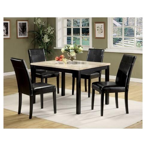 Acme Furniture Dining Table Set White Black Target
