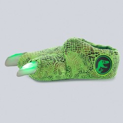 Toddler Boys' Jurassic Park Light-Up Slippers - Green