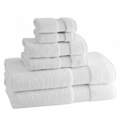 Kassatex Elegance Turkish Cotton pc Towel Set - White