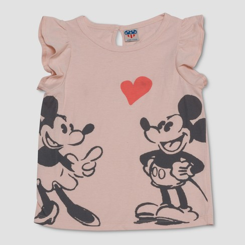 df2e7f1b55 Junk Food Toddler Girls' Disney Mickey Mouse Top And Bottom Set - Pink :  Target