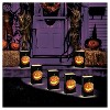 6ct Battery Operated Luminaria Kit- with Timer - Jack O' LED Lantern - image 2 of 3