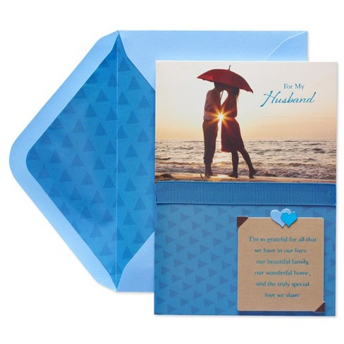Papyrus Couple On A Beach Father's Day Greeting Card - image 1 of 4