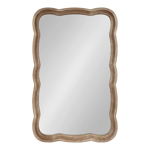 """24"""" x 38"""" Hatherleigh Scallop Wood Wall Mirror Rustic Brown - Kate and Laurel - image 1 of 4"""