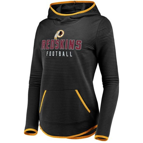 big sale 5347f a094c Washington Redskins Women's Linear Hood Black Scuba Neck Hoodie M