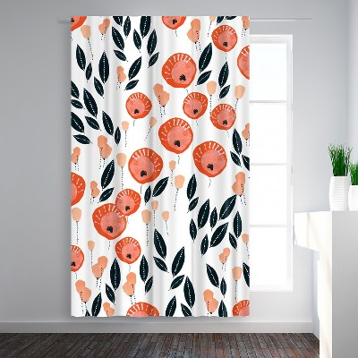 Americanflat Lollypop Flowers by Rebecca Prinn Blackout Rod Pocket Single Curtain Panel 50x84