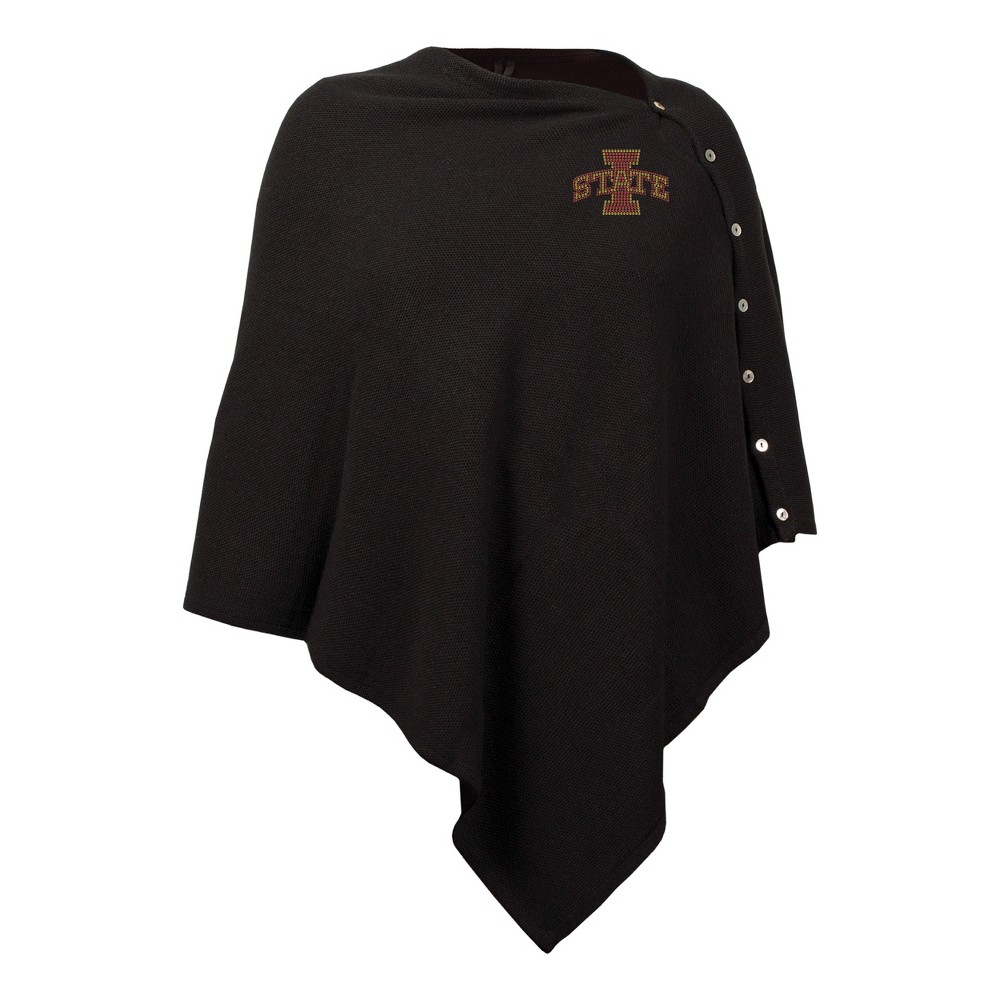 NCAA Iowa State Cyclones Little Earth Black Out Button Poncho