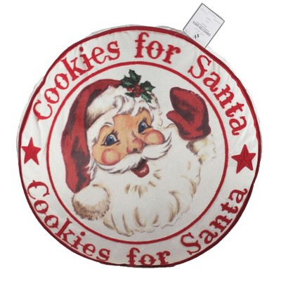 "Home Decor 17.0"" Cookies For Santa Pillow Christmas  -  Decorative Pillow"