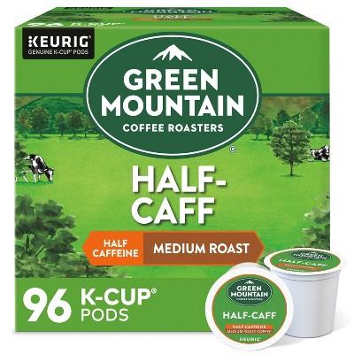 Green Mountain Coffee Medium Roast Half Caff Keurig K-Cup Coffee Pods - 96ct