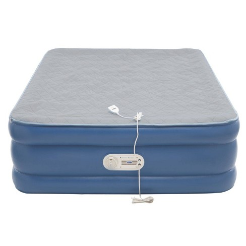 ef1475ec0c7c7 AeroBed Quilted Foam Topper Queen Air Mattress With Built In Air Pump -  Blue   Target