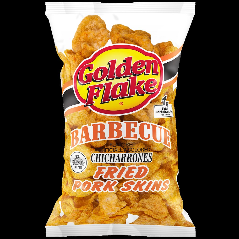 Golden Flake Bbq Pork Skins - 3oz