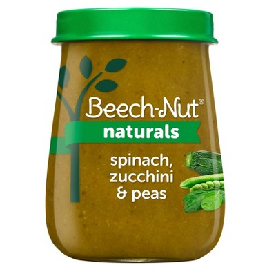 Beech-Nut Naturals Spinach, Zucchini & Peas Baby Food Jar - 4oz