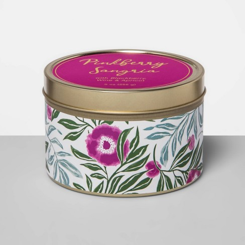 9oz Paper-Wrapped Tin Jar Candle Pinkberry Sangria - Opalhouse™ - image 1 of 2