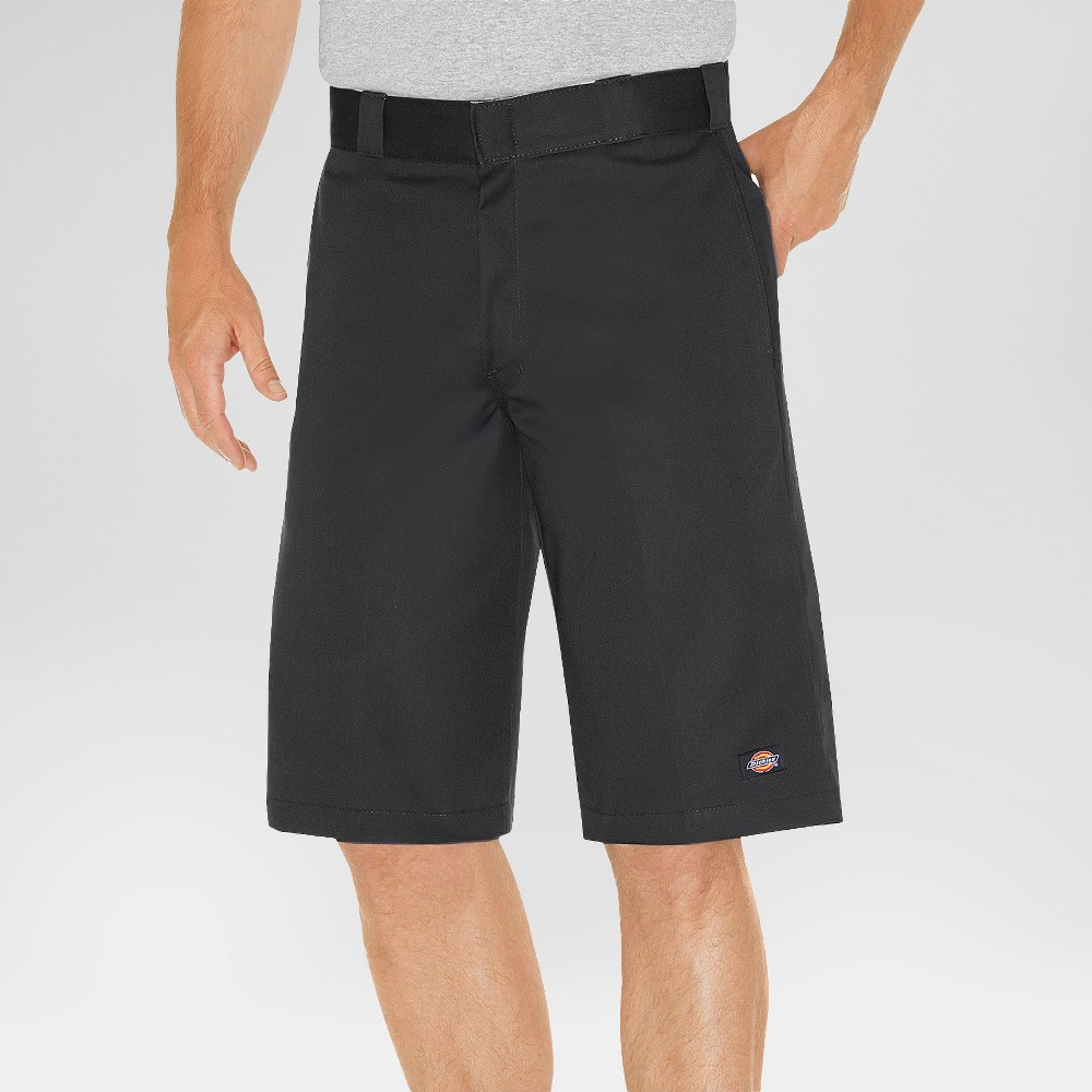 Dickies Men's Relaxed Fit Twill 13 Multi-Pocket Work Shorts- Black 38