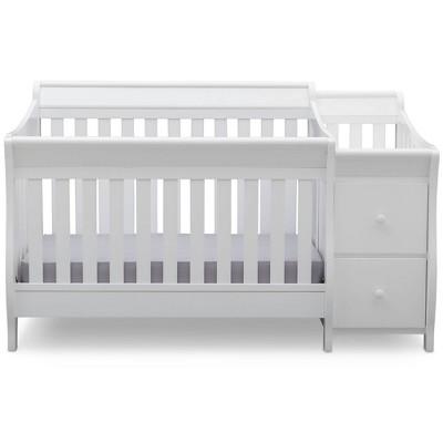 Delta Children Bentley Convertible Baby Crib and Changer - White