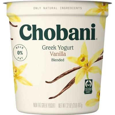 Chobani Vanilla Blended Nonfat Greek Yogurt - 32oz