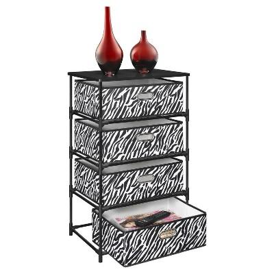 Sidney 4 Bin Storage End Table   Zebra/Black   Ameriwood Home : Target
