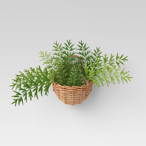 Willow Woven Base Wall Mount Planter - Threshold™ - image 1 of 2