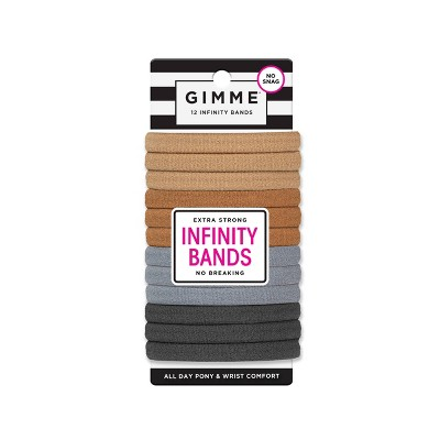 Gimme Clips Infinity Hair Bands - Neutral - 12ct