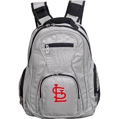 MLB St Louis Cardinals Gray Laptop Backpack