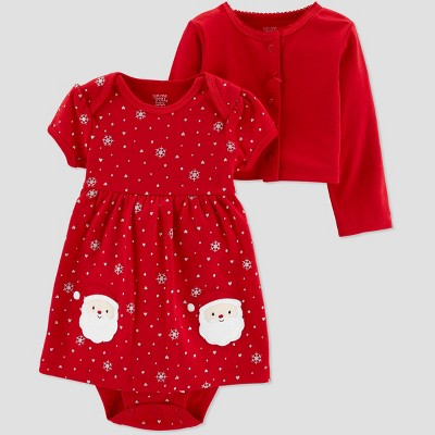 Baby Girls' Santa Dress 2pc Set - Just One You® made by carter's Red 6M