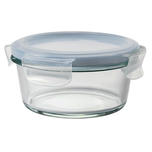 OXO 2 Cup Glass Food Storage Container Blue - image 1 of 3