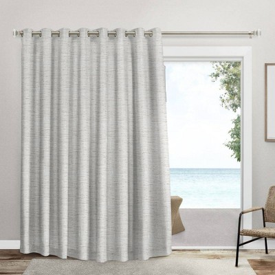 "Set of 2 (100""x84"") Burke Patio Grommet Top Single Blackout Curtain Panel"